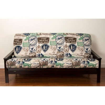 siscovers   parks and rec queen size futon cover in brown buy futon covers queen from bed bath  u0026 beyond  rh   bedbathandbeyond