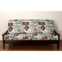 SIScovers® Parks and Rec Full Size Futon Cover in Brown