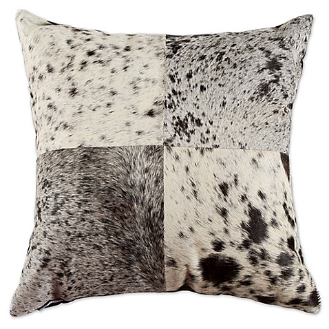 Black Throw Pillows Bed Bath And Beyond : Torino Quatro 18-Inch Square Salt and Pepper Throw Pillow in Black/White - Bed Bath & Beyond