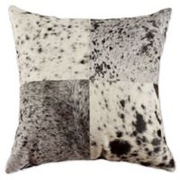 Torino™ Quatro 18-Inch Square Salt and Pepper Throw Pillow in Black/White