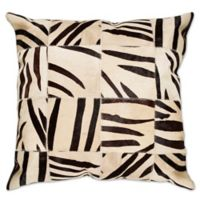 Torino™ 18-Inch Square Zebra Throw Pillow in Black/White