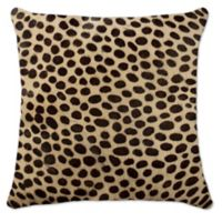 Torino™ 18-Inch Square Cowhide Cheetah Throw Pillow in Brown