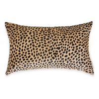 Torino™ Cheetah 12-Inch x 20-Inch Oblong Cowhide Throw Pillow in Brown
