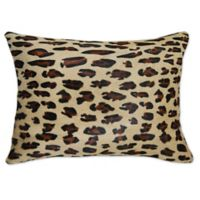 Torino™ Leopard 12-Inch x 20-Inch Oblong Cowhide Throw Pillow in Brown