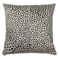Torino™ Cheetah 18-Inch Square Cowhide Throw Pillow in Brown