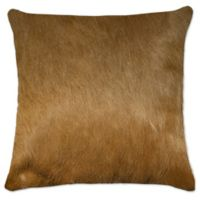 Torino Cowhide Square Throw Pillow in Tan
