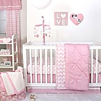 The Peanut Shell® 4-Piece Pintucked Crib Bedding Set in Pink