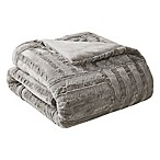 Madison Park Arctic Plush Down Alternative Throw Blanket in Grey