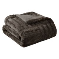 Premier Comfort Arctic Plush Down Alternative Throw Blanket in Chocolate