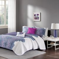 Intelligent Design Mila Full/Queen Coverlet Set in Purple