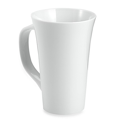 Everyday White 174 By Fitz And Floyd 174 16 Oz Rim Latte Mugs
