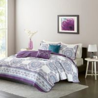 Intelligent Design Anika Full/Queen Coverlet Set in Purple