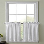 Sophia 24-Inch Kitchen Window Curtain Pair in White
