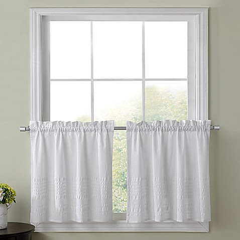 Buy Sophia 36 Inch Kitchen Window Curtain Tier Pair In White From Bed Bath Beyond