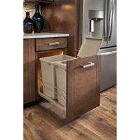 Rev-A-Shelf® Double 35 qt. Pull-Out Champagne Waste Container with Soft-Close Slides