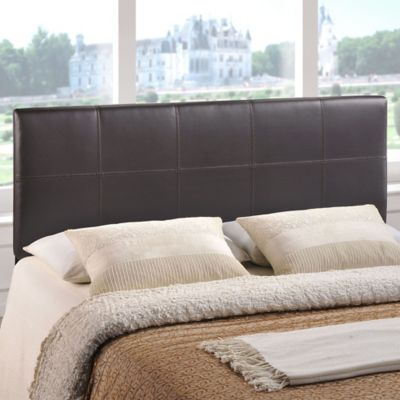 buy padded leather headboard from bed bath beyond. Black Bedroom Furniture Sets. Home Design Ideas