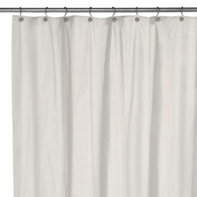 eco soft extra long shower curtain liner in white