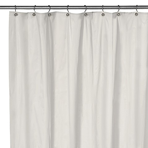 Eco Soft Extra Long Shower Curtain Liner in White - Bed Bath & Beyond