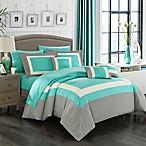 Chic Home Dylan 10-Piece Queen Comforter Set in Turquoise