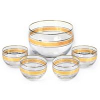 Classic Touch Vivid Gold Dessert Bowls (Set of 5)