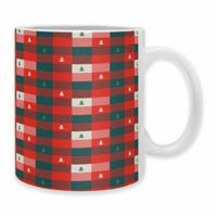 "DENY Designs Zoe Wodarz ""Mini Tree Plaid"" Mugs (Set of 2)"