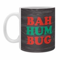 "DENY Designs Zoe Wodarz ""Bah Humbug"" Mugs (Set of 2)"