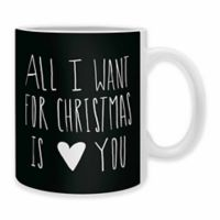 """DENY Designs Leah Flores """"All I Want For Christmas Is You"""" Mugs (Set of 2)"""