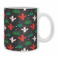 "DENY Designs Zoe Wodarz ""Cactus Christmas"" Mugs (Set of 2)"