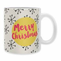 "DENY Designs Allyson Johnson ""Merry Christmas"" Mugs (Set of 2)"