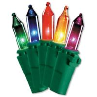 National Tree 50 Bulb 16.5-Foot Multicolored Light String Set