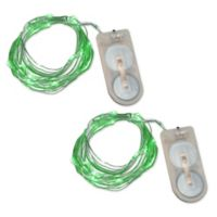 Submersible Mini String Lights in Green (Set of 2)