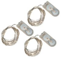 20-Count LED Waterproof Mini Fairy String Lights in Cool White (Set of 3)