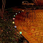 Solar-Powered Plastic Lantern String Lights in Color-Changing White/Multi (Set of 8)