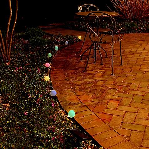 Solar Powered Plastic Lantern String Lights Set Of 8