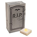 Battery Operated 6-Count RIP Tombstone Luminaria Kit with Timer