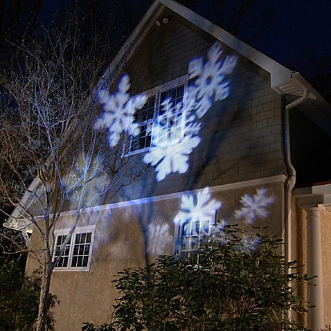 Led Projector Light In White Snowflakes Bed Bath Amp Beyond