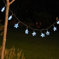 LumaBase® Solar-Powered 13-Foot Light String with White Stars