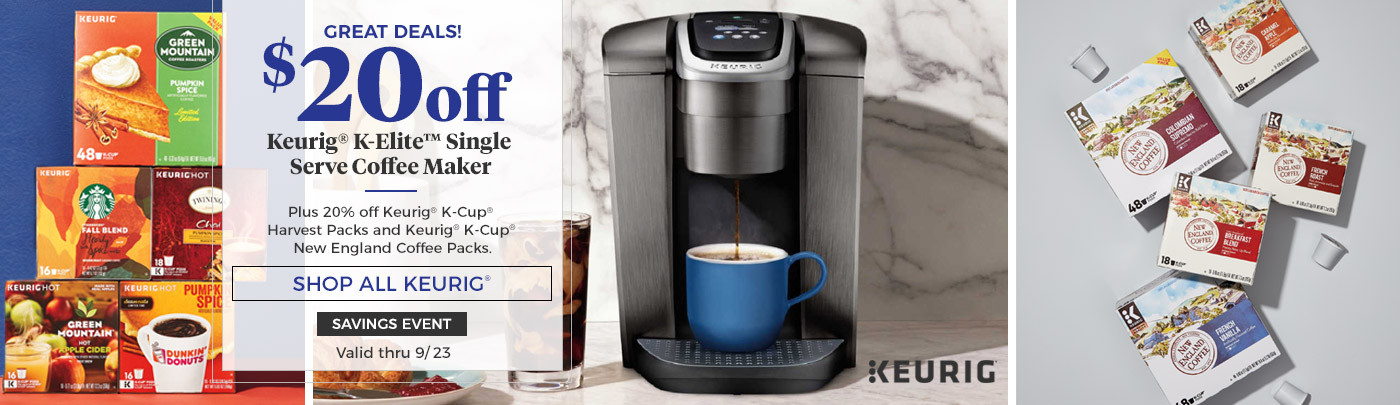 $20 off Keurig K-Elite Single Serve Coffee Maker