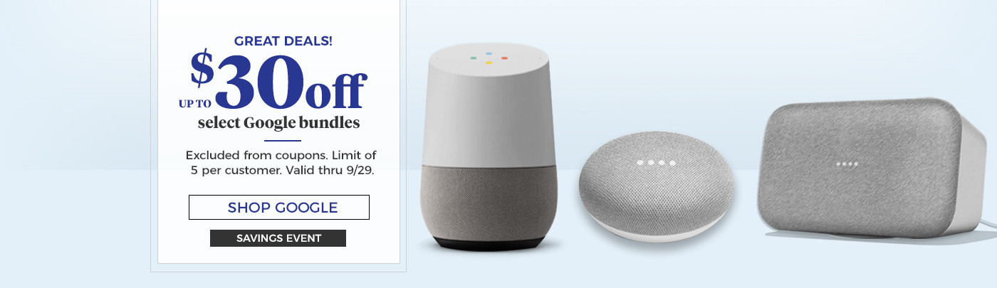 $30 off select Google Bundles