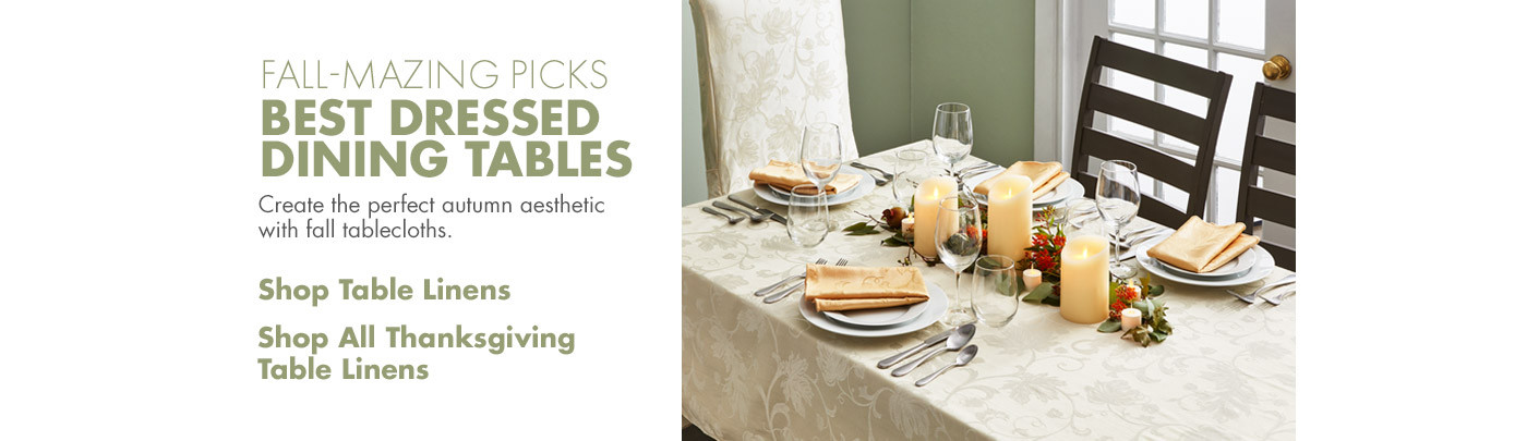 Fall-Mazing Picks - Best Dressed Dining Tables