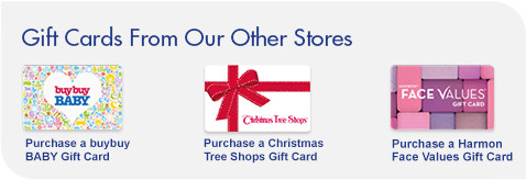 Purchase other gift cards from our sister stores