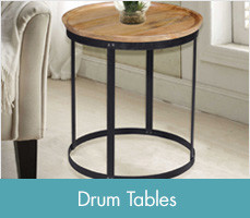 Superb Shop Drum Accent Tables