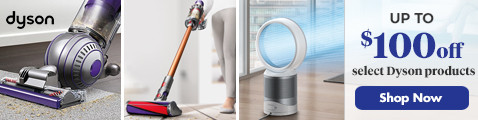$100 off Select Dyson