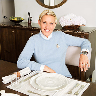 Ellen Sitting at table