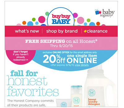 If you sign up for email alerts, you get a one-time-use 20% off printable coupon to use in stores. How to Save the Most Money at BuyBuy Baby: You'll obviously want to check out the sale section, where you can save up to 50% off even the most popular items at football-watch-live.ml