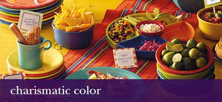 Fun and colorful dinnerware for celebrating.