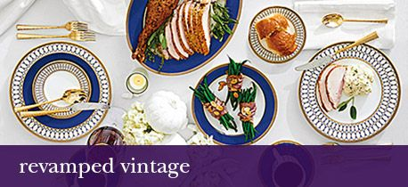 Vintage & retro styles for your dinnerware.