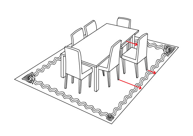 Dining room rug diagram