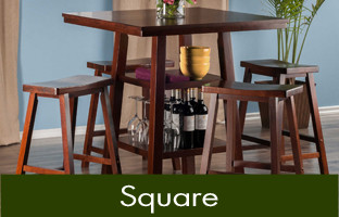 Square Pub Tables u0026 Bistro Sets : square pub table set - pezcame.com