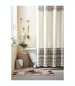 Cortina de baño de algodón Wild Sage™ Adelita color blanco/negro